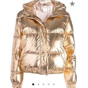 Alice + Olivia Rose Gold Puffer jacket